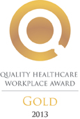 Quality Healthcare Workplace Award Gold 2013 logo