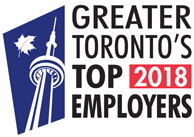 Greater Toronto's Top Employers 2018 award badge