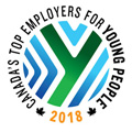 Canada's Top Employers for Young People 2018 award badge