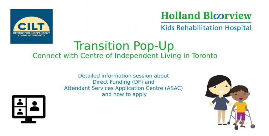 banner graphic for the transitions pop-up event