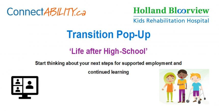 transitions banner for high school event