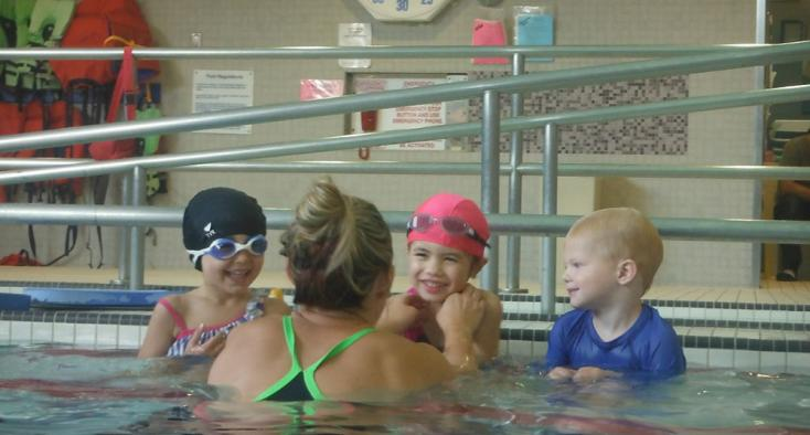 Photo of kids in the pool