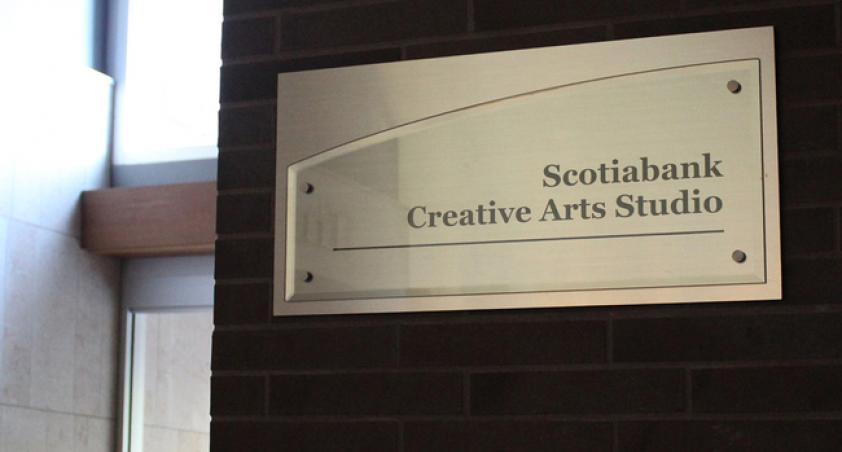 The ScotiaBank Creative Arts Studio is an integral part of the centre for the arts