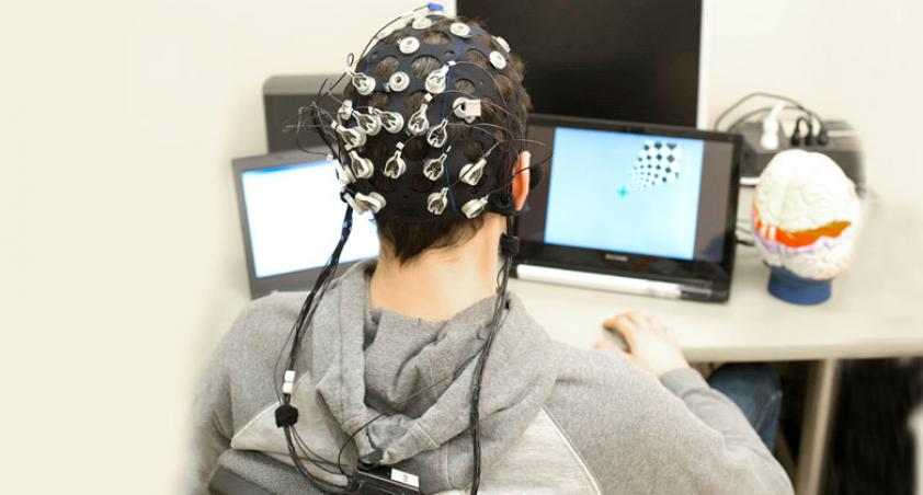 client wearing a brain interface