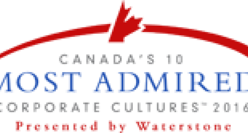 Canada's 10 Most Admired Corporate Cultures 2016 award