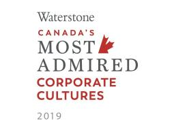 Canada's 10 Most Admired Corporate Cultures 2019 award