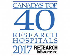 Canada's Top 40 research hospital 2017 logo