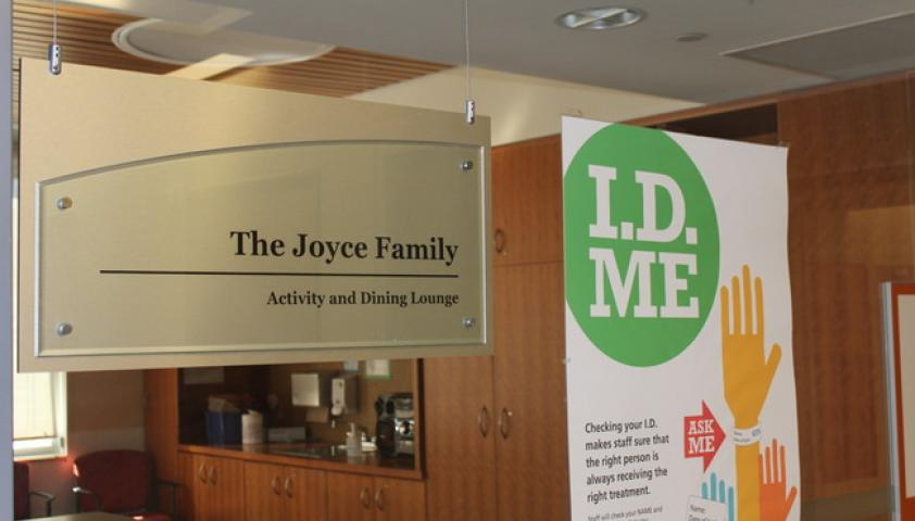 Activity and dining lounge in honour of the Joyce Family