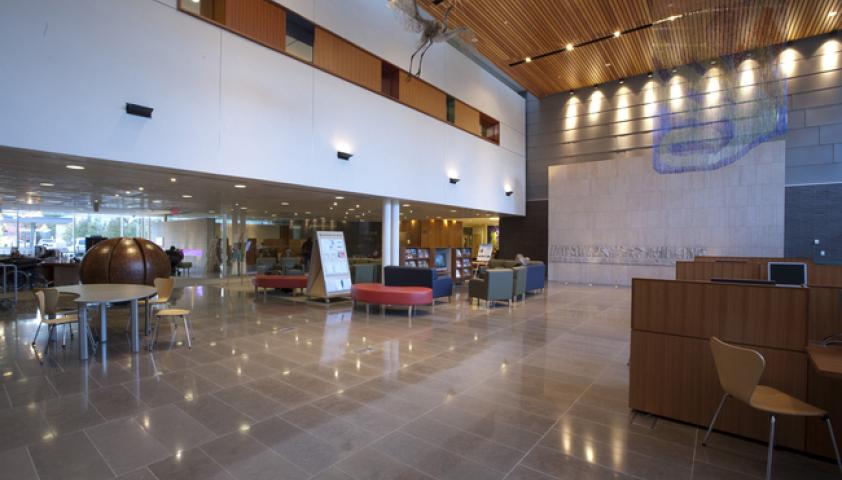 Our lobby is a busy open space that welcomes our visitors