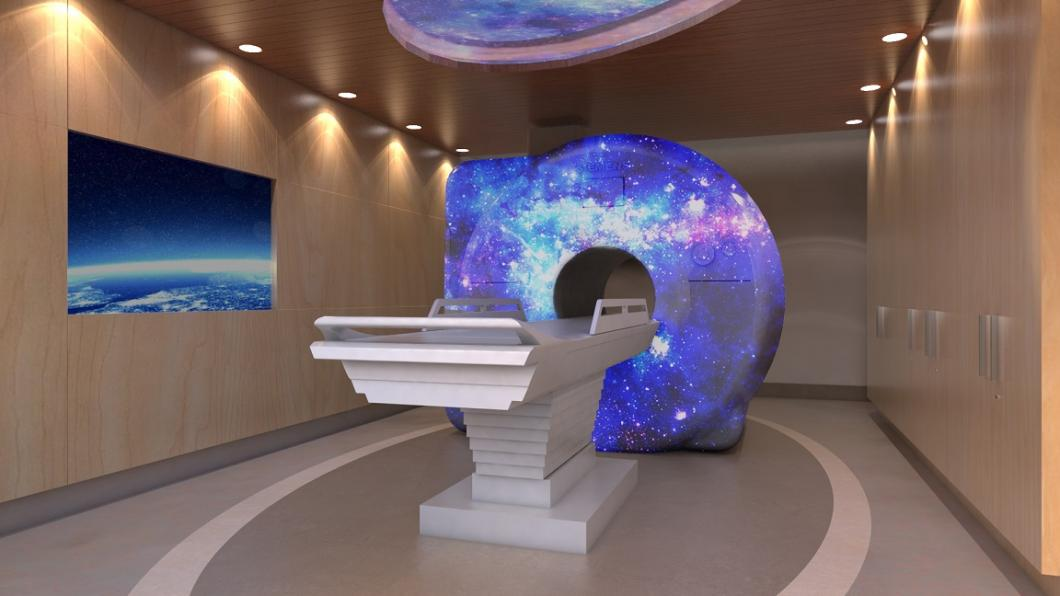 Rendering of the MRI