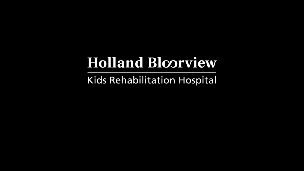 Holland Bloorview logo on black background