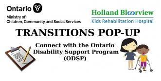 banner graphic for the transitions pop-up ODSP event